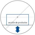 Para conseguir resultados de envolvimiento optimal, hace falta que el perfil del producto que se quiere fajar, alcance el centro geométrico del anillo, tejuelo, ve esquema. A tal fin la línea Compacta S (en los modelos S6, S9, S12) es dotado, de serie, de la regulación en altura del plan de trabajo.