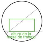 Para conseguir resultados de envolvimiento optimal, hace falta que la sección del producto que se quiere fajar, alcance el centro geométrico del anillo, tejuelo, ve esquema.