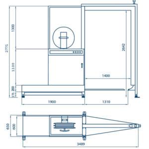 Flejadora SPK 2100 - dimensiones