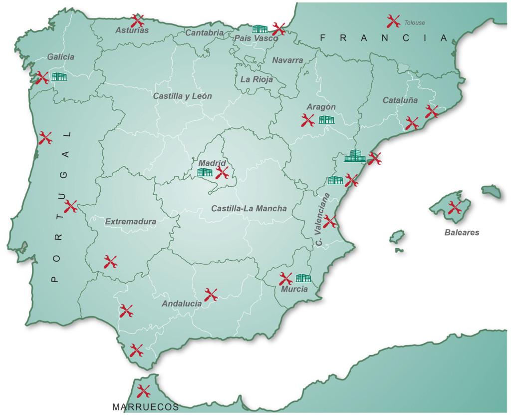 mapa servicio asistencia técnica controlpack