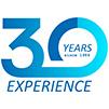 logo 30 años experiencia