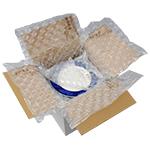 Relleno y protección con almohadillas de aire
