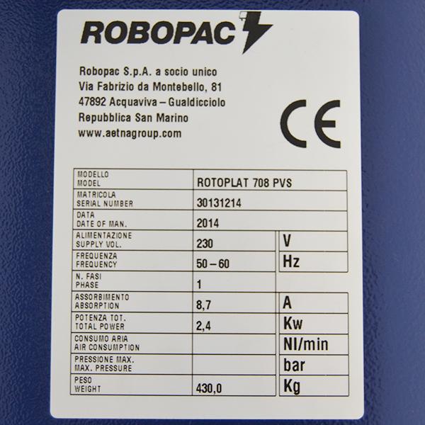 rotoplat 708 matrícula