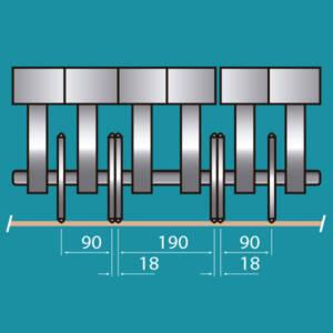 Configuracion central de los grupos longitudinales
