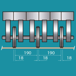 Configuracion lateral de los grupos longitudinales