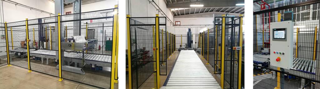 Instalación línea de embalaje sector automovilistico