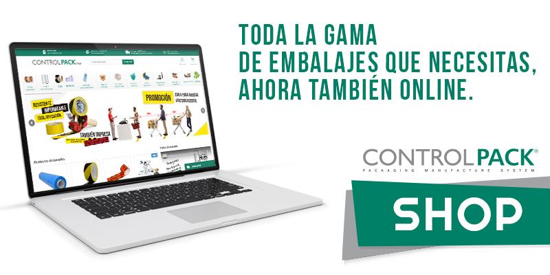 Amplio catálogo de productos y materiales de embalaje en la tienda online de Controlpack