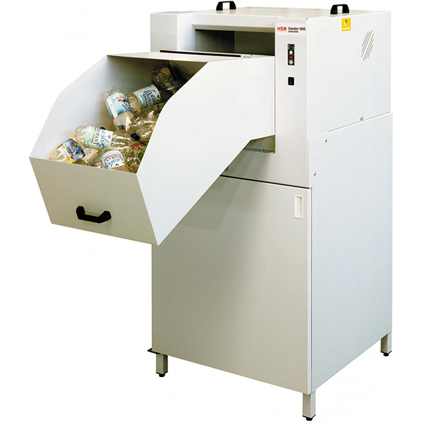 Máquina compactadora de botellas de plástico