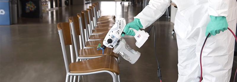Pistola pulverizar desinfectante