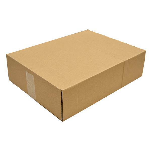 Caja automontable con solapas.