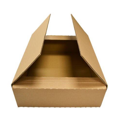 Caja automontable con solapas
