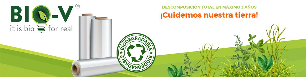 embalajes de plástico biodegradable bio-v controlpack