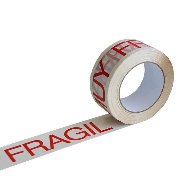 "Cinta adhesiva impresa ""muy frágil"""