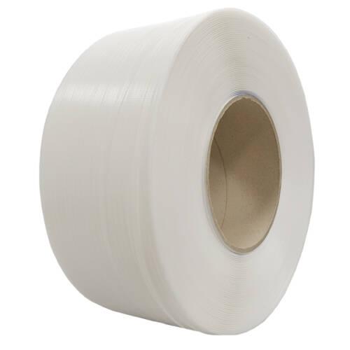 Fleje de polipropileno (PP) blanco: ancho 8mm, grosor 0,63mm y diámetro 200mm