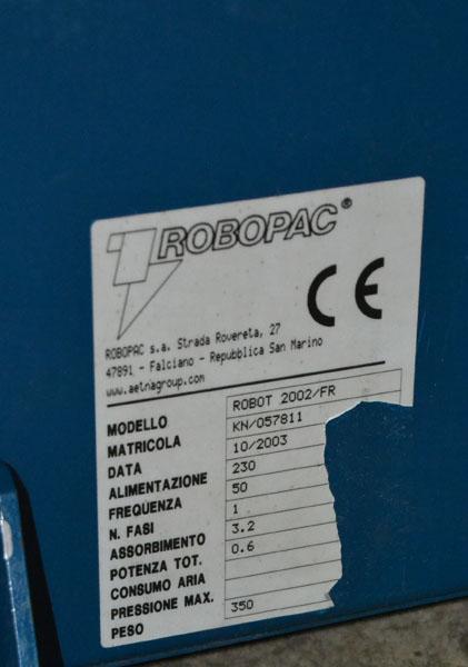 robot 2002 fr matricula