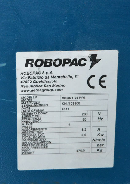 robot s5 matrícula