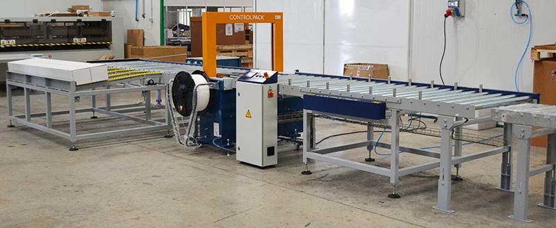 Sistema de flejado automatizado para final de línea